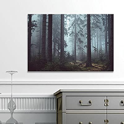 Pine Forest in The Mist - Canvas Art