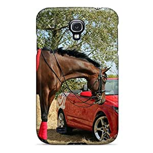 Hot Beautiful Horse Red Car First Grade Tpu Phone Case For Galaxy S4 Case Cover