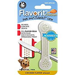 Pet Qwerks Flavorit -Chicken Flavored Nylon Bone for Aggressive Chewers (Made in the USA)