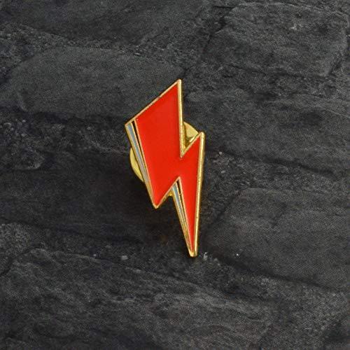 Lightning Brooch Pin Badge Emblem Corsage Sane Bolt Bowie Inspired Enamel Lapel Jewelry for Hat Backpack