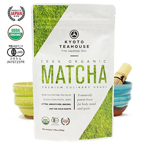 Superior Quality 100% Organic Japanese Matcha Green Tea Powder - USDA & JONA certified - Premium Culinary Grade - Perfect for Smoothies, Lattes, Baking, or Straight Shots [50g/1.76oz] (Tea Seaweed)