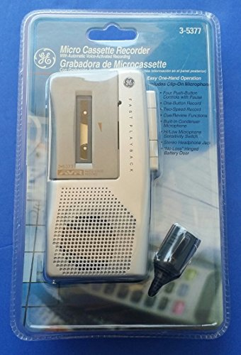 GE 3-5377 Microcassette Recorder by GE