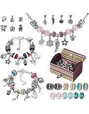 MMYAN DIY berlocker armband smyckestillverkning tillbehör berlocker smycken tillverkning kit för flickor med berlocker hängen för smycken tillverkning konst hantverk set