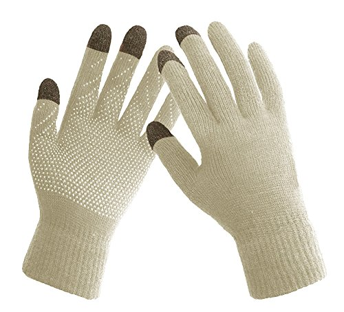 Women's Warm Winter Snow Gloves Mittens Beige - 9
