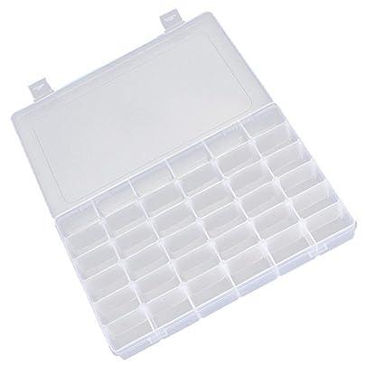 Amazoncom 152436 Grid Clear Adjustable Jewelry Bead Organizer