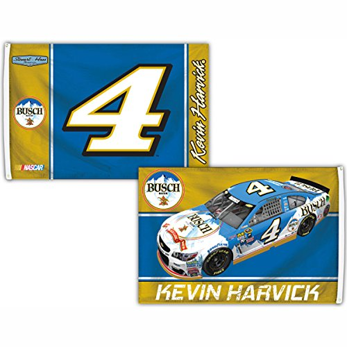 Kevin Harvick #4 Deluxe 2-SIDED 2016 3x5 SIGNATURE Flag w/gr