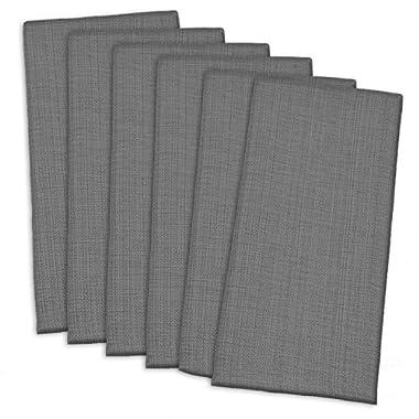 DII 100% Cotton, Oversized Basic Everyday 20x 20  Napkin, Set of 6, Variegated Gray
