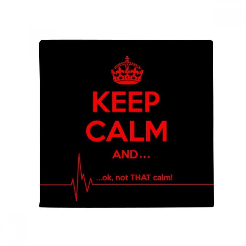 DIYthinker Quote Keep Calm Red Black Anti-Slip Floor Pet Mat Square Home Kitchen Door 80Cm Gift