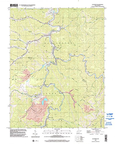 Clothier WV topo map, 1:24000 scale, 7.5 X 7.5 Minute, Historical, 1996, updated 2002, 27.4 x 22 IN - Tyvek (Meadows Cabin Spruce)