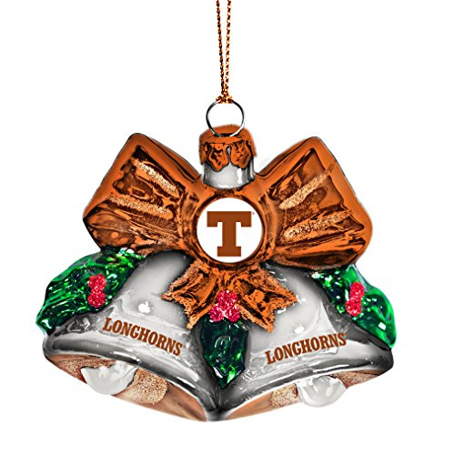 - NCAA Texas Longhorns Glitter Bells Ornament