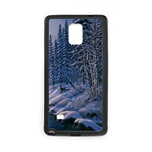 Samsung Galaxy Note 4 Cases White Owl Painting by James Meger, Owl [Black]