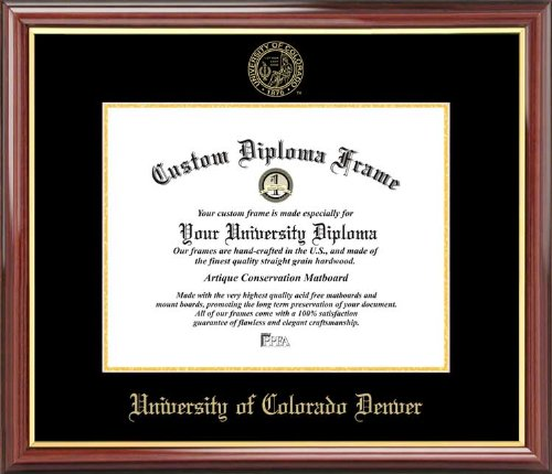 University of Colorado Denver Lynxes - Embossed Seal - Mahogany Gold Trim - Diploma Frame ()