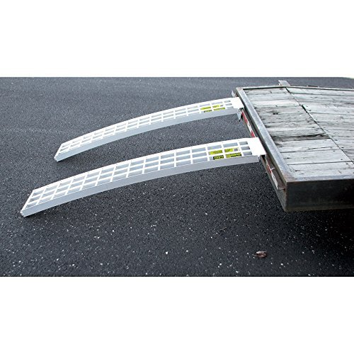 Five Star Aluminum Ramp (2) Set For Trailers - 60in.L x 12in.W, 5,000 lb. Capacity Per Pair by Five Star Mfg