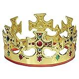 Adjustable Gold Plastic King Crown