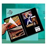 Itoya Profolio Premium Album, Linen Cover with 20 Repositionable Pages, 10 X 12 3/4 X 3/4 inches, Black (CA-400-BK)