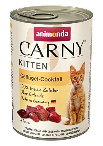 animonda Carny Kitten Katzenfutter, Nassfutter für wachsende Katzen bis 1 Jahr, 6 x 400 g