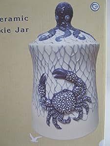 CBOCS Crab and Octopus Ocean Ceramic Cookie Jar
