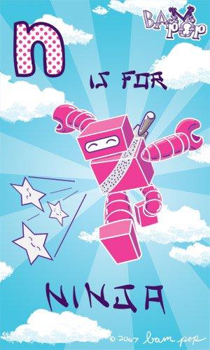 Amazon.com: Bam Pop. ABC de: Ninja Juego de sellos de ...