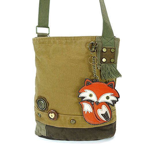 Print Canvas Cross Body (Patch Xbody Bag-fox (Brn))