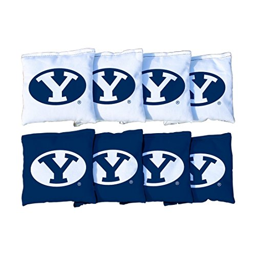 NCAA Replacement Corn Filled Cornhole Bag Set NCAA Team: Brigham Young Cougars - Fabric Brigham University Young