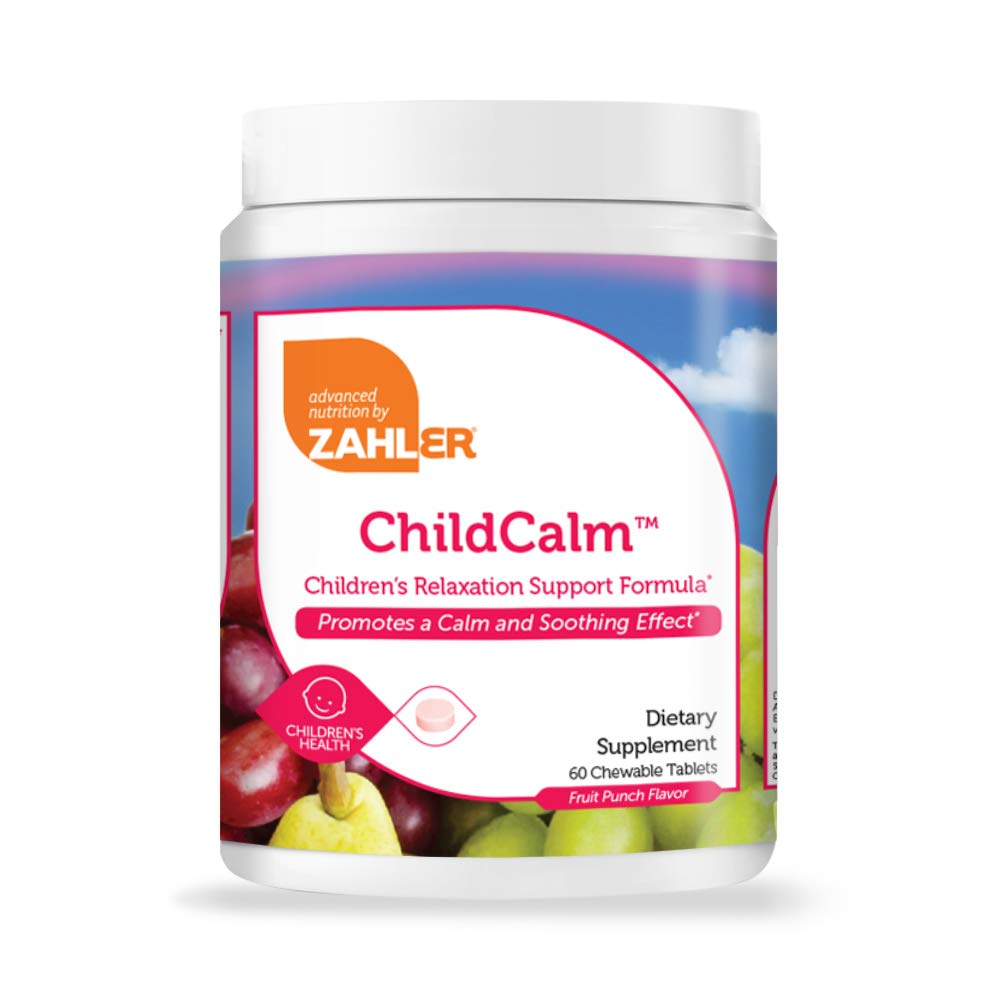 Zahler ChildCalm, Chewable Magnesium Calming and Relaxation Aid for Kids, Children's Calm Magnesium Supplement, Certified Kosher, 60 Chewable Tablets