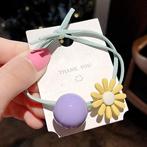 (Maikouhai Women Girls Hair Scrunchies, Kids Hair Band Ties Rope Ring Elastic Hairband Ponytail Holder Headwear (Purple))