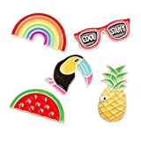 Jhion Brooch Pin Set Cute Brooches Patches for Clothes/Bags/Backpacks/Jackets