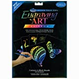 Royal Langnickel 8-Inch by 10-Inch Foil Engraving Art Blank Boards, Rainbow