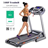 Cheap shaofu Electric Folding Treadmill Running Machine for Home Gym Office with Manual Incline (US Stock) (3.0 HP – Gray)