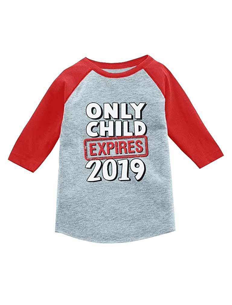 Tstars Funny Only Child Expires 2019 Siblings 3/4 Sleeve Baseball Jersey Toddler Shirt GaMPthPgm8