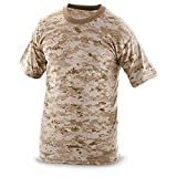 DLP Tactical Dry-Tech Polyester Compression Fit Camo T-Shirt (Digital Desert MARPAT AOR1, 4XL)
