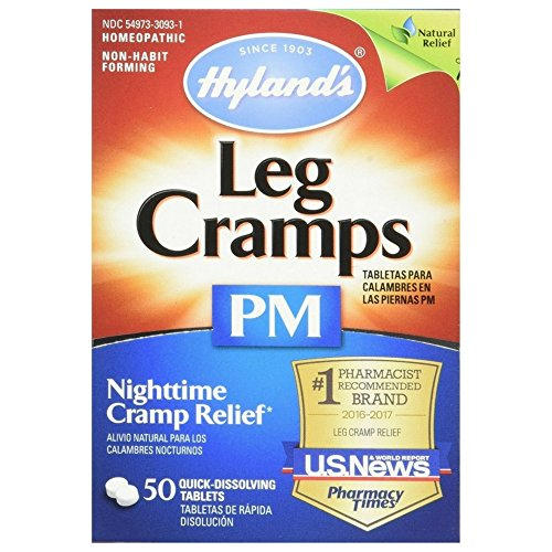 Hyland's Leg Cramps PM With Quinine Tablets 50 ea ( Pack of (Night Rest 50 Tabs)
