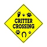 Home Decoration Sign Caution Critter Crossing Xing Animals Danger Hunter Safety Funny Metal Alunimum Wall Plaque