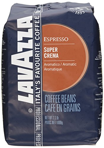 "Lavazza Italian ""Super Crema"" Espresso Whole Bean Value Pack (3"
