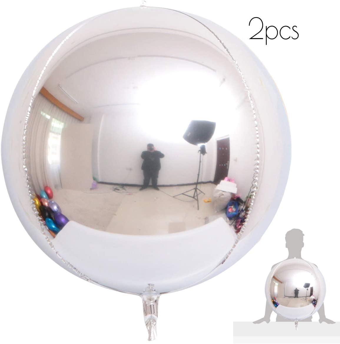 22 Inch Jumbo Ombre ORBZ 4D Sphere Metallic Foil Balloon Birthday Hens Party
