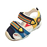 Brezeh Boys Sandals, Toddler Baby Boys Fashion Sneaker Shoes Children Luminous LED Casual Sandals Shoes Summer Beach Sandals (4.5 UK, Light Blue)