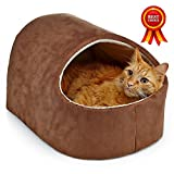 Home Intuition Cat Tent Bed Cave (Brown)
