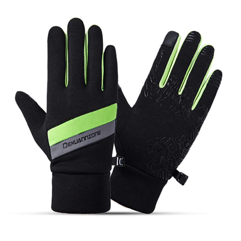 CFTech Cycling Gloves Touchscreen Motorcycle Winter Gloves Non-Slip Cold Weather Warm Gloves (Green, M)