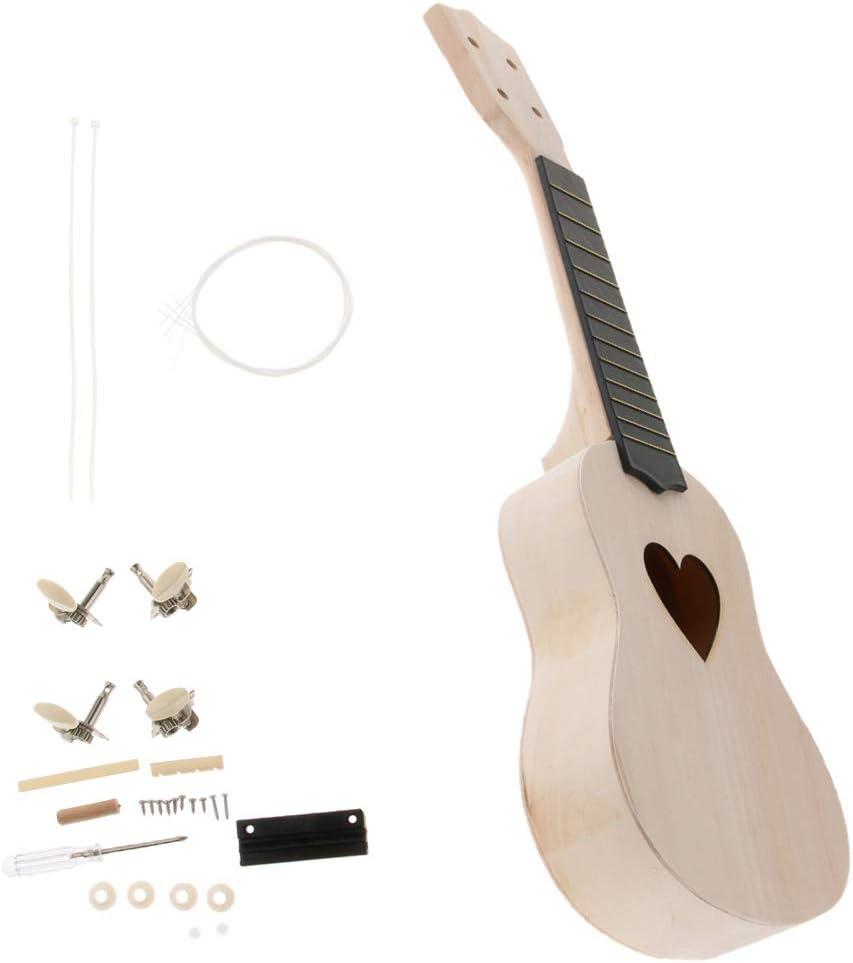Kit De Ukelele Para Guitarra Hecho A Mano De 21 Pulgadas Y 4 ...