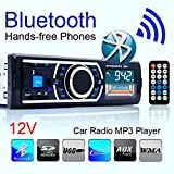 Outeck Car 1DIN In-Dash Bluetooth Audio Stereo Receiver, MP3/USB/SD/FM AUX Input