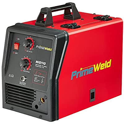 PRIMEWELD MIG140 140 Amp MIG Wire Welder Flux Core Welder and Aluminum Gas Shielded Welding 110V, 3 YEAR WARRANTY