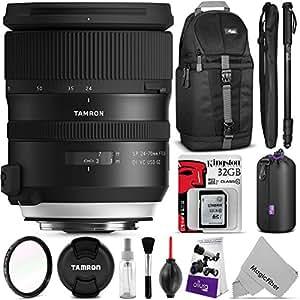 Tamron SP 24-70mm f/2.8 Di VC USD G2 Lens for NIKON F w/ Advanced Photo and Travel Bundle