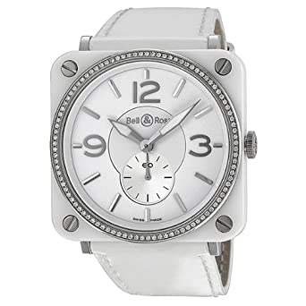 12ab5d1d0 Bell & Ross Aviation Diamond White Ceramic Ladies Watch BRS-98-WCS:  Amazon.co.uk: Watches