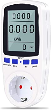 Digital KWh Zähler Wattmeter Energieverbrauch Messgerät Stromzähler Steckdose
