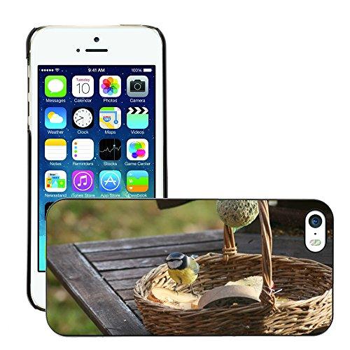 Just Phone Cases Hard plastica indietro Case Custodie Cover pelle protettiva Per // M00129248 Mésange bleue Mésange Oiseau Lieu // Apple iPhone 5 5S 5G