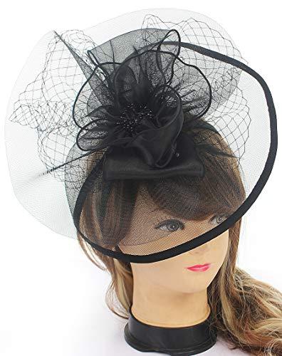 Sinamay Fascinators Hat for Women Feather Flower Headwear Kentucky Derby Wedding Cocktail Tea Party Headband Hat Hair -
