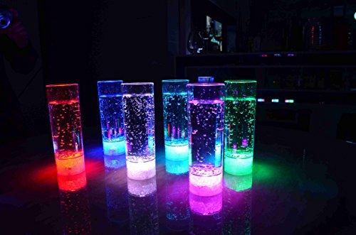 LED beleuchtetes Longdrinkglas Longdrinkgläser LED Trinkglas Partyglas Hochzeit Silvesterparty LED Glas400 ml / Marke PRECORN