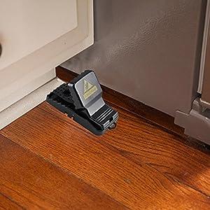 Mouse Trap, Anpatio Effective Non-toxic Rat Catcher Home Kitchen Outdoor Garden Snap Rodent Pest Control Set of 4 Black