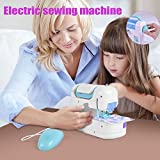 Description: This sewing machine toy can be used for designing their own personality of the small clothes or wallet, etc by kids, creative stitching patch, benefit of improving the childen's hand-eye coordination ability, develop their intell...
