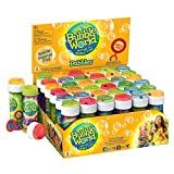 Bubble World Fun Bubble Bottles (36 Pack) Bubbles for Kids – Non-Toxic Bubbles with Built-In Wand for Mess-Free Play!